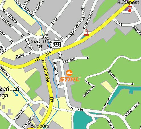 budakeszi térkép Holográf, Stihl & Viking Szakkereskedés